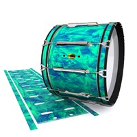 Yamaha 8300 Field Corps Bass Drum Slip - Aqua Cosmic Glass (Aqua)