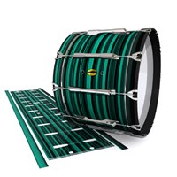 Yamaha 8300 Field Corps Bass Drum Slip - Aqua Horizon Stripes (Aqua)