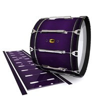 Yamaha 8300 Field Corps Bass Drum Slip - Black Cherry (Purple)