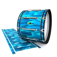 Yamaha 8300 Field Corps Bass Drum Slip - Blue Feathers (Themed)