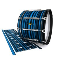 Yamaha 8300 Field Corps Bass Drum Slip - Blue Horizon Stripes (Blue)
