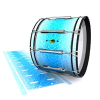 Yamaha 8300 Field Corps Bass Drum Slip - Blue Ice (Blue)