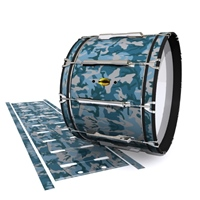 Yamaha 8300 Field Corps Bass Drum Slip - Blue Slate Traditional Camouflage (Blue)