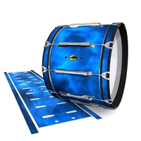 Yamaha 8300 Field Corps Bass Drum Slip - Blue Smokey Clouds (Themed)