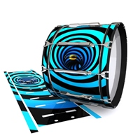 Yamaha 8300 Field Corps Bass Drum Slip - Blue Vortex Illusion (Themed)