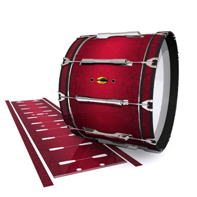 Yamaha 8300 Field Corps Bass Drum Slip - Crimson Depth (Red)