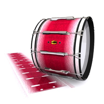 Yamaha 8300 Field Corps Bass Drum Slip - Wicked White Ruby (Red) (Pink)