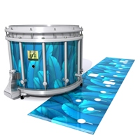 Yamaha 9200 Field Corps Snare Drum Slip - Blue Feathers (Themed)