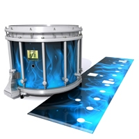 Yamaha 9200 Field Corps Snare Drum Slip - Blue Flames (Themed)