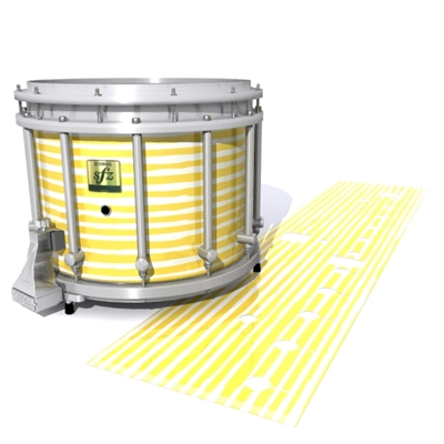 Yamaha 9200 Field Corps Snare Drum Slip - Lateral Brush Strokes Yellow and White (Yellow)
