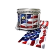 Yamaha 9300 Field Corps Snare Drum Slip - Stylized American Flag