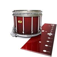 Yamaha 9300 Field Corps Snare Drum Slip - Apple Maple Fade (Red)