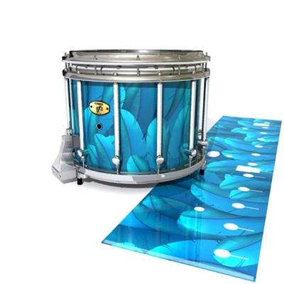 Yamaha 9300 Field Corps Snare Drum Slip - Blue Feathers (Themed)