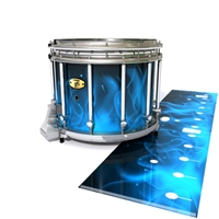 Yamaha 9300 Field Corps Snare Drum Slip - Blue Flames (Themed)