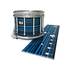 Yamaha 9300 Field Corps Snare Drum Slip - Blue Horizon Stripes (Blue)