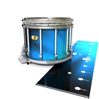 Yamaha 9300 Field Corps Snare Drum Slip - Blue Light Rays (Themed)