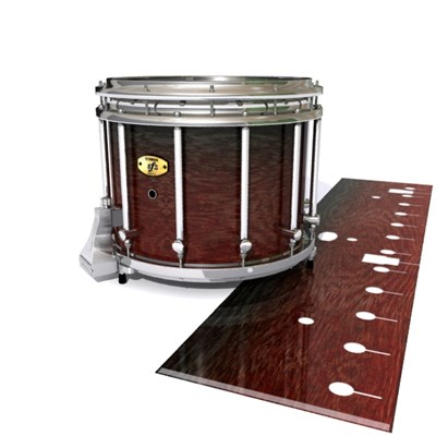 Yamaha 9300 Field Corps Snare Drum Slip - Weathered Rosewood (Red)