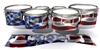 Yamaha 8200 Field Corps Tenor Drum Slips - Stylized American Flag