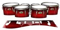 Yamaha 8200 Field Corps Tenor Drum Slips - Active Red (Red)