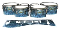 Yamaha 8200 Field Corps Tenor Drum Slips - Aeriform (Blue)