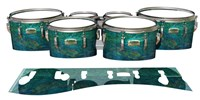 Yamaha 8200 Field Corps Tenor Drum Slips - Aquamarine Blue Pearl (Aqua)