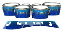 Yamaha 8200 Field Corps Tenor Drum Slips - Aquatic Blue Fade (Blue)