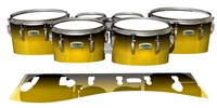 Yamaha 8200 Field Corps Tenor Drum Slips - Aureolin Fade (Yellow)