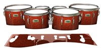 Yamaha 8200 Field Corps Tenor Drum Slips - Autumn Fade (Orange)