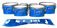 Yamaha 8200 Field Corps Tenor Drum Slips - Blue Cosmic Glass (Blue)