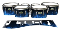 Yamaha 8200 Field Corps Tenor Drum Slips - Blue Flames (Themed)