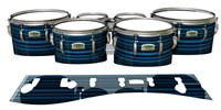 Yamaha 8200 Field Corps Tenor Drum Slips - Blue Horizon Stripes (Blue)
