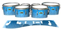 Yamaha 8200 Field Corps Tenor Drum Slips - Blue Ice (Blue)