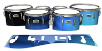 Yamaha 8200 Field Corps Tenor Drum Slips - Blue Light Rays (Themed)