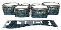 Yamaha 8200 Field Corps Tenor Drum Slips - Blue Slate Traditional Camouflage (Blue)