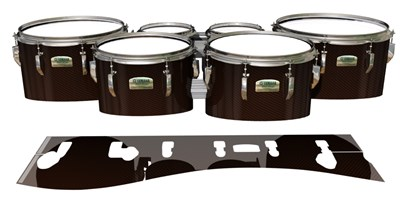 Yamaha 8200 Field Corps Tenor Drum Slips - Burnt Carbon Fade (Orange)