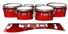 Yamaha 8200 Field Corps Tenor Drum Slips - Cherry Pickin' Red (Red)