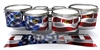 Yamaha 8300 Field Corps Tenor Drum Slips - Stylized American Flag