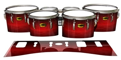 Yamaha 8300 Field Corps Tenor Drum Slips - Active Red (Red)