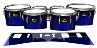 Yamaha 8300 Field Corps Tenor Drum Slips - Andromeda Blue Rosewood (Blue)