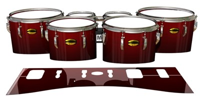 Yamaha 8300 Field Corps Tenor Drum Slips - Apple Maple Fade (Red)