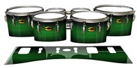 Yamaha 8300 Field Corps Tenor Drum Slips - Asparagus Stain Fade (Green)