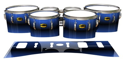 Yamaha 8300 Field Corps Tenor Drum Slips - Azzurro (Blue)