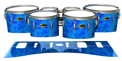 Yamaha 8300 Field Corps Tenor Drum Slips - Blue Cosmic Glass (Blue)