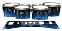 Yamaha 8300 Field Corps Tenor Drum Slips - Blue Flames (Themed)