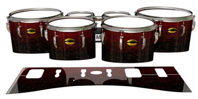 Yamaha 8300 Field Corps Tenor Drum Slips - Burgundy Rock (Red)