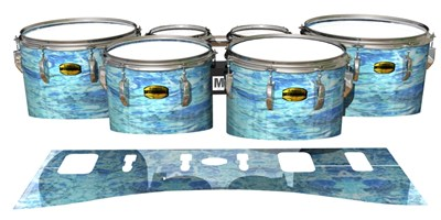 Yamaha 8300 Field Corps Tenor Drum Slips - Cosmic Tide (Blue)