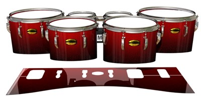 Yamaha 8300 Field Corps Tenor Drum Slips - Dragon Red (Red)