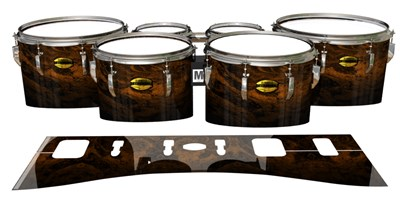 Yamaha 8300 Field Corps Tenor Drum Slips - Earth GEO Marble Fade (Neutral)