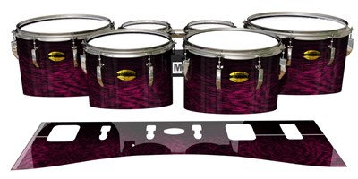 Yamaha 8300 Field Corps Tenor Drum Slips - Festive Pink Rosewood (Pink)