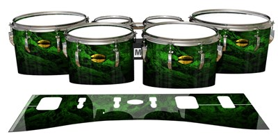 Yamaha 8300 Field Corps Tenor Drum Slips - Forest GEO Marble Fade (Green)